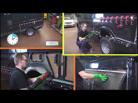 Sidewall part repair & Installation of new part on a Sprinter | W900, W906