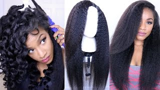 getlinkyoutube.com-How to Style Kinky Straight Hair⎮DIY Hot Glue Gun Wig (BestLaceWigs)