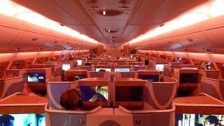 getlinkyoutube.com-Emirates A380 business class Dubai to Sydney