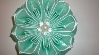 getlinkyoutube.com-Объемный цветок своими руками. Видео мастер- класс. /Ribbon Flower