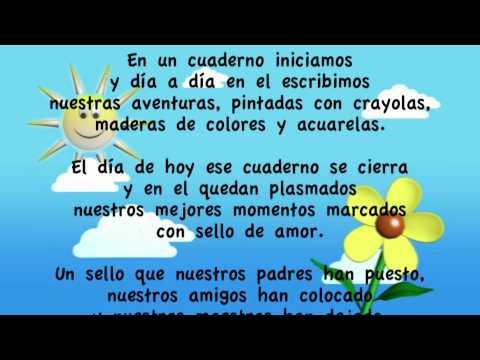 Poema para la graduación de kinder - Imagui