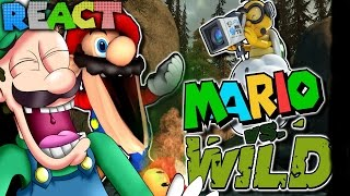 LUIGIKID REACTS TO: THE MARIO CHANNEL: MARIO VS WILD by SMG4