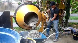 getlinkyoutube.com-Fazendo traço 3 por 1 na betoneira de 400 litros