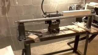 getlinkyoutube.com-Самодельный токарный станок по дереву ( конец процеса ) Первый пуск