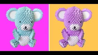 getlinkyoutube.com-3D Origami Teddy Bear Tutorial - Part 1