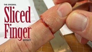 getlinkyoutube.com-Original Sliced Finger SFX makeup tutorial