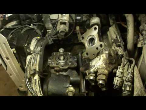 Замена сальника на усилителе руля VOLVO FM How to replace a leaking oil seal