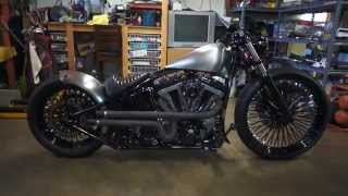 getlinkyoutube.com-Harley Softail Chopper Bobber Project 2 Vid 12
