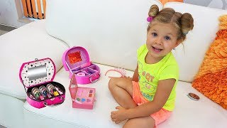 Roma and Diana Pretend Play Cooking Food Toys with Kitchen Play Set width=