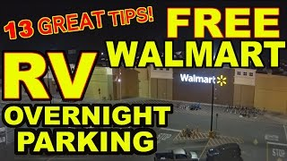 "getlinkyoutube.com-👍""Top 13"" Tips for FREE Overnight RV Parking at WALMART"