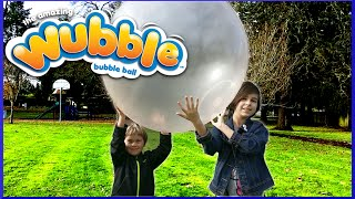 getlinkyoutube.com-The Amazing Wubble Bubble Ball Review and Fun Family Play