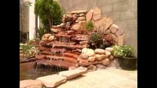 getlinkyoutube.com-Estanque para peces con cascada artificial (1)