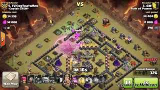 """getlinkyoutube.com-Clan War (GoWiPe / EarthQuake spell) 3 stars on maxed th9 """"Rule Of Power"""" Attack by GW!"""