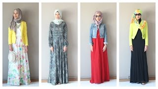 getlinkyoutube.com-Maxi Dress Hijab Lookbook