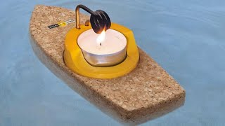 How to Make a Steam Boat with a Candle