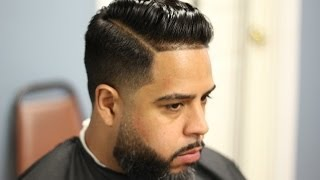 getlinkyoutube.com-comb over(pomp) tapered with hard part