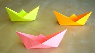 getlinkyoutube.com-Papierschiff falten - Basteln mit Kindern - Leichtes Origami Boot - Basteln Ideen