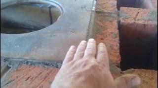 getlinkyoutube.com-Ставим простую, эффективную колпаковую  печь.