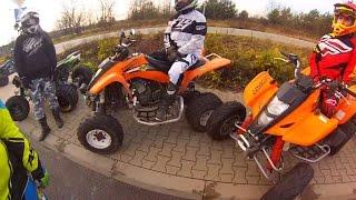 getlinkyoutube.com-Quad dirt riding on full speed / ATV Polaris Kawasaki Suzuki