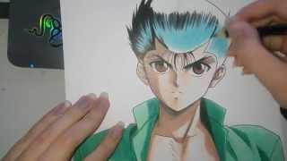 getlinkyoutube.com-Speed Drawing - Yusuke Urameshi (YuYu Hakusho)
