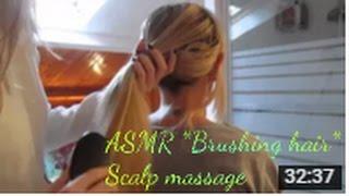 ASMR *Brushing hair* *Scalp massage* brosse, masse, coiffure