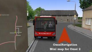 getlinkyoutube.com-Omsi 2: OmniNavigation ( a mini map for Omsi 2) by PeDePe