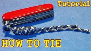 How to Tie Paracord lanyard with Overhand Sliding knot ( Tutorial / Guide )
