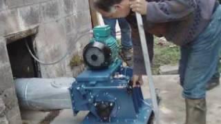 getlinkyoutube.com-Off-grid hydro installation with rocks in pipe