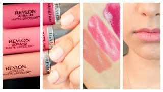getlinkyoutube.com-NEW! Revlon Ultra HD Matte Lipcolor || First Impressions