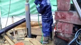 getlinkyoutube.com-Iwado Water Well Digger (3) 井戸掘り、岐阜市長森岩戸