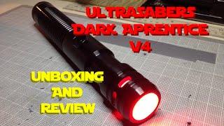 getlinkyoutube.com-Ultrasabers Dark Apprentice V4 - Unboxing and Review!