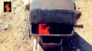 getlinkyoutube.com-(ракетная печка) rocket stove /oven/ ロケットストーブ /로켓 스토브