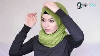 getlinkyoutube.com-HIJAB TUTORIAL  Elegant Throwback | HIJABAPP | NABIILABEE