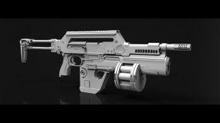 getlinkyoutube.com-M41A Pulse Rifle Zbrush timelapse