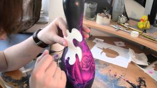 getlinkyoutube.com-Airbrush Effects - Bowling Pin Rose