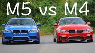 getlinkyoutube.com-BMW F10 M5 vs F82 M4 rolling drag race