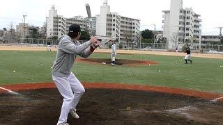 getlinkyoutube.com-フリー打撃でスローボール打ち!ひたすらタイミングをとる練習として打ち込む