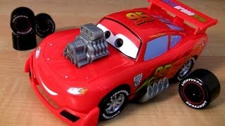 getlinkyoutube.com-Gear Up and Go Lightning McQueen Buildable toys Cars 2 Ultimate Review Disney Pixar Blucollection