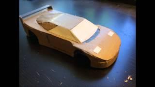 Как сделать модель Ferrari f40 из картона своими руками