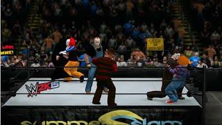 getlinkyoutube.com-WWE 2K15 | Jason Voorhees vs Michael Myers vs Chucky vs Freddy Krueger vs Penny-wise vs Ghostface
