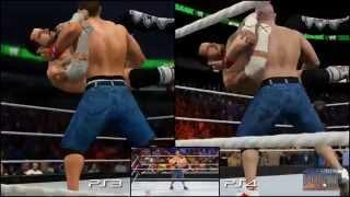 getlinkyoutube.com-WWE 2K15: PS3 vs PS4 vs Real Life (CM Punk vs. John Cena) - Ultimate Comparison