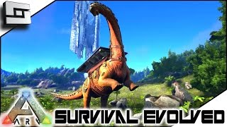 ARK: Survival Evolved - TITANOSAUR TAMING FAIL!