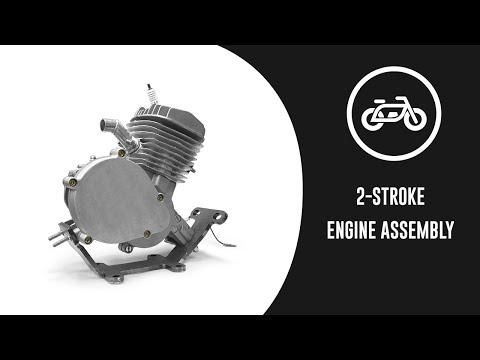GASBIKE.NET 66cc/80cc 2-Stroke Engine Animation Assembly Video