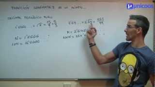 Imagen en miniatura para Fracción generatriz de un decimal periódico puro
