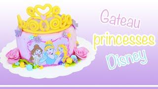 getlinkyoutube.com-Gâteau Princesses Disney  │ Cake Design