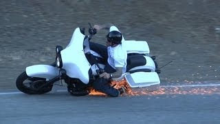 getlinkyoutube.com-Harley Davidson Lowside Motorcycle Crash