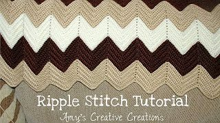 getlinkyoutube.com-Crochet Ripple Stitch Afghan Tutorial