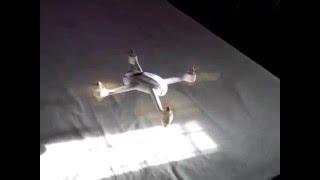 getlinkyoutube.com-Hubsan H501S - Indoor Flight Stability Test  - CRASH
