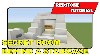 """Secret Room Behind Stairs [Expandable] """"Redstone Tutorial"""" (Minecraft Xbox/PlayStation/PS Vita)"""