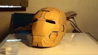 getlinkyoutube.com-#30: Iron Man Mark 42 Helmet DIY 4/8 - Gluing supports & the rest (cardboard) | How To | Dali DIY